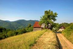 Vuile Weg op Heuvels Stock Foto