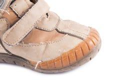 Vuile werkende laarzen Stock Foto