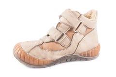 Vuile werkende laarzen Stock Afbeelding