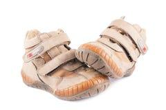Vuile werkende laarzen Stock Foto's