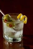 Vuile wodka martini Stock Afbeeldingen