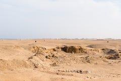 Vuile woestijn met hotel Royalty-vrije Stock Afbeeldingen