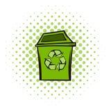 Vuilnisbak het symbool van recyclingseco Stock Afbeeldingen