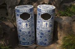 Vuilnisbakken, China Stock Foto