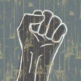 Vuist - revolutiesymbool. Stock Afbeeldingen