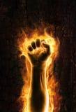 Vuist van brand stock illustratie