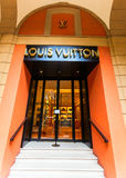 Vuitton store. Louis vuitton store  entrance with stairs Stock Image