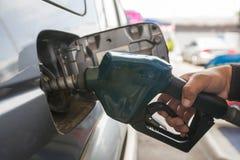 Vul benzinestation op stock afbeeldingen