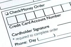 Vul de creditcardinformatie in royalty-vrije stock foto's
