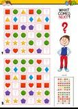 Vul de patroon onderwijsactiviteit voor kinderen royalty-vrije illustratie