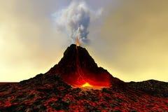 Vulcão ativo imagem de stock