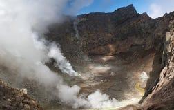 Vulcão ativo Foto de Stock