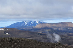 Vulcão ativo em Islândia Fotografia de Stock