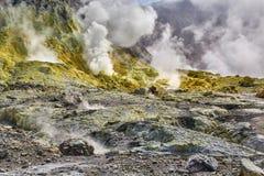 Vulcão branco da ilha Fotografia de Stock Royalty Free