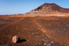 Vulcão Cabo Verde de Calhau Foto de Stock Royalty Free