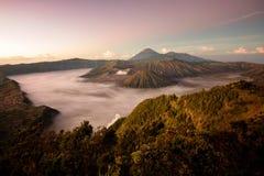 Vulcão de Bromo em Indonésia Foto de Stock