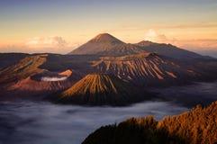 Vulcão de Bromo em Indonésia Fotos de Stock Royalty Free