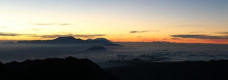 Vulcão de Bromo, Java Indonesia Fotografia de Stock