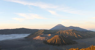 Vulcão de Bromo, Java Indonesia Fotos de Stock
