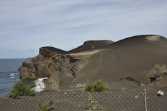 Vulcão de Capelinhos foto de stock royalty free