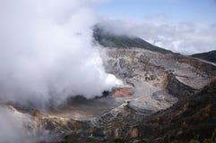 Vulcão de fumo de Poas Fotografia de Stock Royalty Free