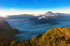 Vulcão de Gunung Bromo Foto de Stock Royalty Free