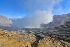 Vulcão de Ijen, East Java/Indonésia foto de stock royalty free