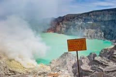 Vulcão de Kawah Ijen, Java, Indonésia Imagem de Stock