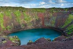 Vulcão de Kerid foto de stock royalty free
