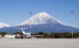 Vulcão de Koryaksky Imagens de Stock Royalty Free
