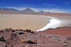 Vulcão de Lascar, Atacama o Chile Foto de Stock