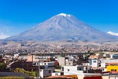 Vulcão de Misti imagens de stock