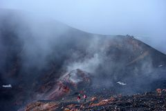 Vulcão de Monte Etna, ilha Itália de Sicília Imagens de Stock Royalty Free