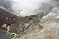 Vulcão de Mutnovskaya. Kamchatka. Foto de Stock Royalty Free