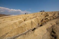 Vulcão de Romênia, close up detalhado da lama da natureza imagens de stock