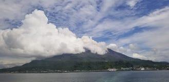 Vulcão de Sakurajima foto de stock royalty free