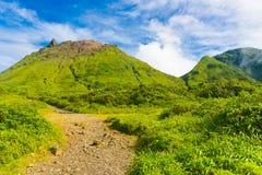 Vulcão de Soufriere imagens de stock