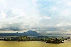 Vulcão de Taal fotografia de stock