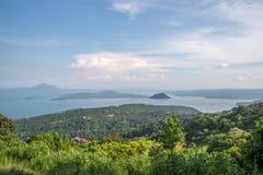 Vulcão de Taal nas Filipinas Foto de Stock