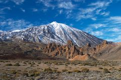 Vulcão de Teide de distante Fotografia de Stock Royalty Free