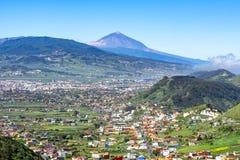 Vulcão de Teide e paisagem de Tenerife, Ilhas Canárias, Espanha fotos de stock royalty free