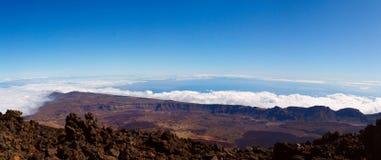Vulcão de Teide em um dia ensolarado Fotografia de Stock