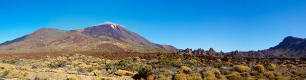 Vulcão de Teide em um dia ensolarado Foto de Stock Royalty Free