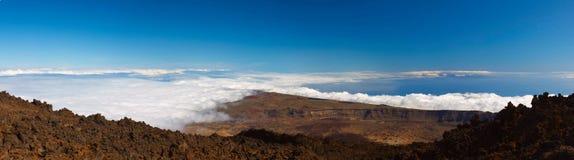 Vulcão de Teide em um dia ensolarado Fotografia de Stock Royalty Free