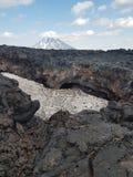 Vulcão de Tolbachik imagem de stock