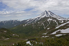 Vulcão de Viluchinskiy. Kamchatka Fotografia de Stock Royalty Free