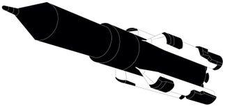 Vulcão do foguete do conceito do espaço Fotografia de Stock Royalty Free