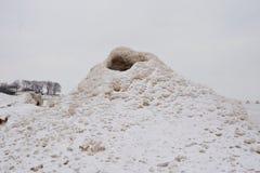 Vulcão do gelo Fotografia de Stock Royalty Free