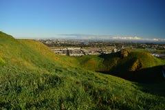 Vulcão do Mt Wellington em Auckland, vista da parte superior, Nova Zelândia imagens de stock