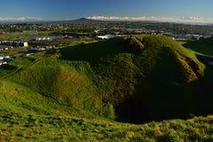 Vulcão do Mt Wellington em Auckland, vista da parte superior, Nova Zelândia fotos de stock